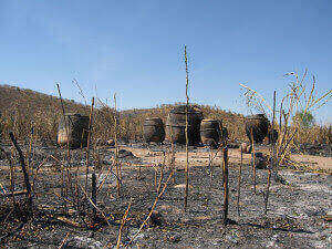 The remains of a destroyed Darfur village, 2007 (photograph by Mia Farrow)