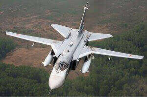 A Russian-built Sukhoi-24, one of the main aerial weapons against civilians deployed by the Khartoum regime